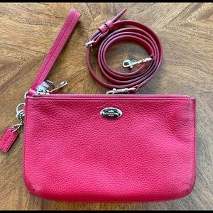Coach Lyla Crossbody Handbag Wristlet Berry Red